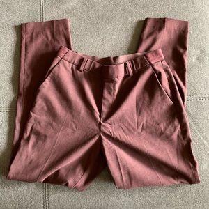 UNIQLO EZY Ankle pants maroon
